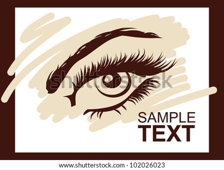 Beautiful woman eye. Vector illustration