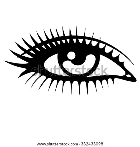 Beautiful Woman Eye Vector Stock Photo 309597602