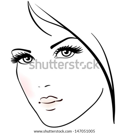 Stock Photo Beautiful woman face