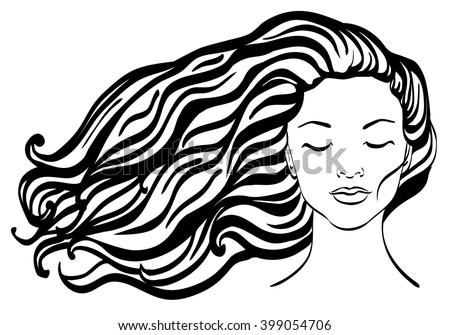 Line Art Hair : Download beatiful girls wallpaper  wallpoper