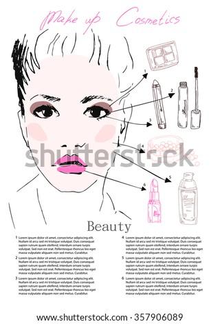 beautiful woman face  sketch