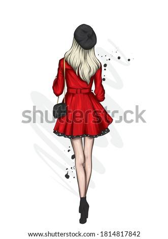 beautiful woman in a stylish
