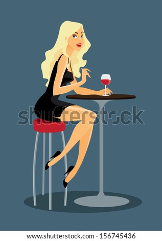 beautiful woman is drinking