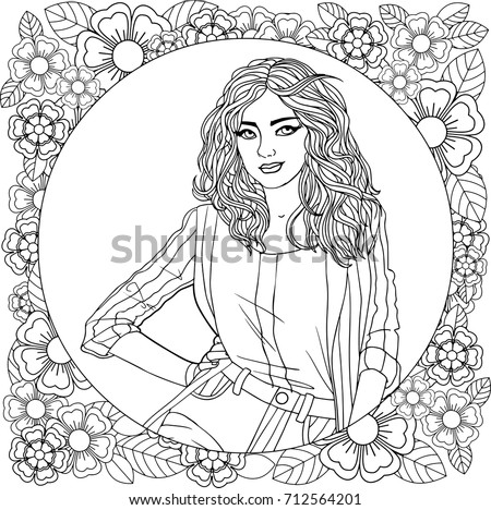 beautiful woman on a mandala