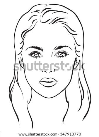 beautiful woman portrait face