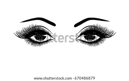 beautiful woman's eyes close up
