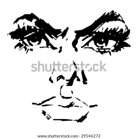 Beautiful Woman Cartoon Face Beautiful Woman's Face Vector