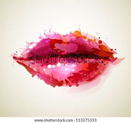beautiful woman          s lips