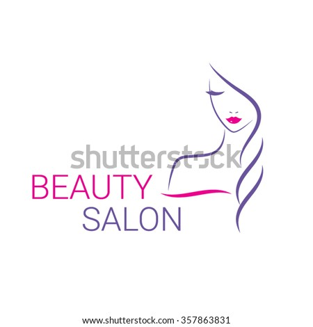beautiful woman vector logo