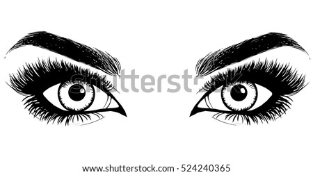 beautiful women eyes with make