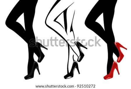 beautiful women legs wearing