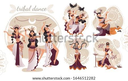 beautiful women performing