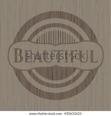 Beautiful wood icon or emblem