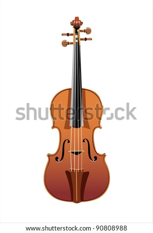 beautiful wooden cello isolated on white background