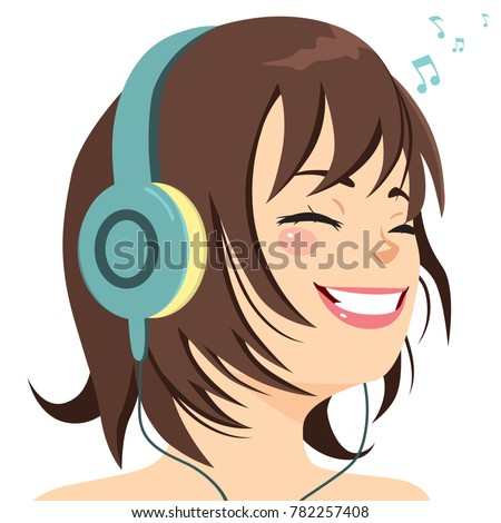 beautiful young girl happy