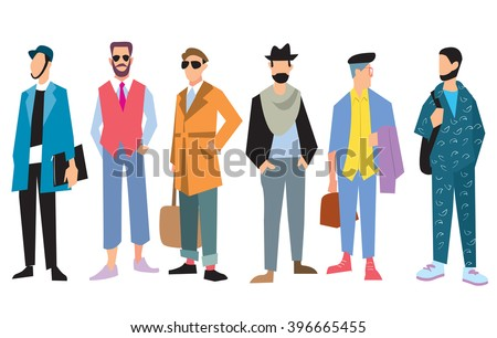 Beautiful young men in fashion clothing. Fashion men. Isolated fashion boy on white background.