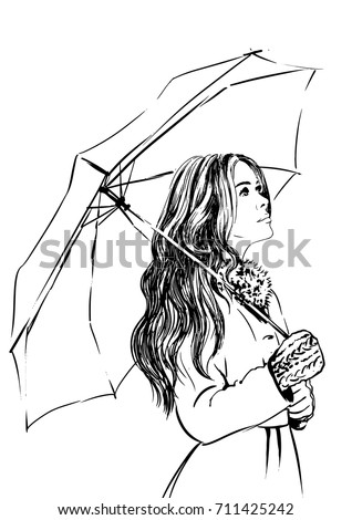 Umbrella Rain Woman