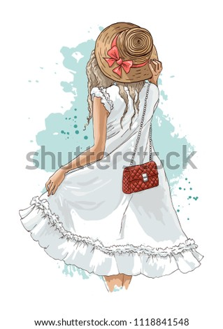 beautiful young woman in summer