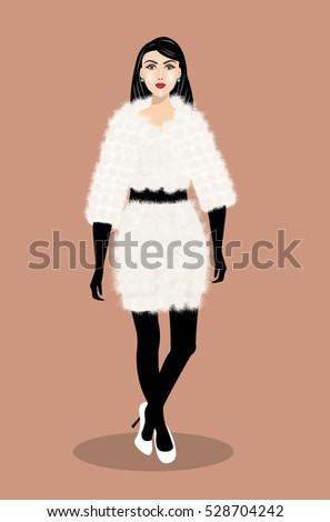 beautiful young woman wearing