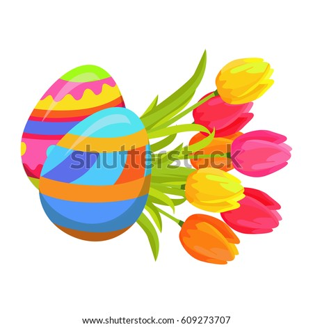 beautifully colored eggs and