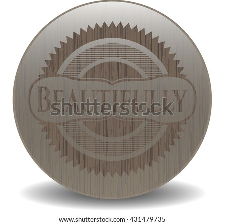 Beautifully retro wooden emblem