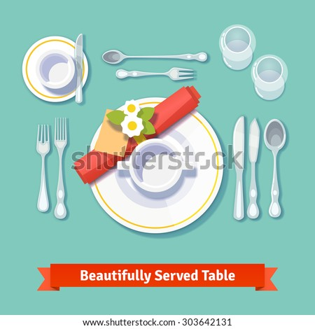 beautifully served table