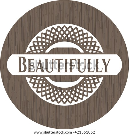 Beautifully wood emblem. Retro