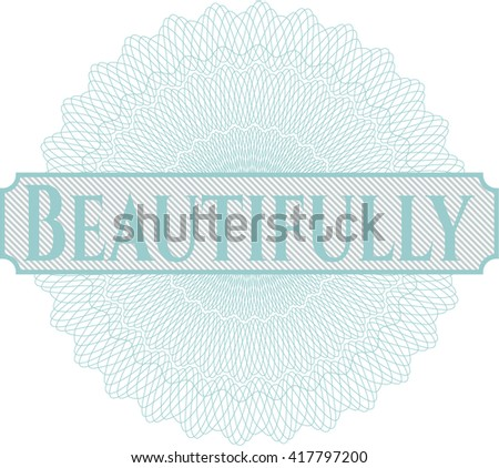 Beautifully written inside abstract linear rosette