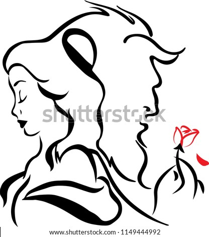 Beauty and Beast design for decoration