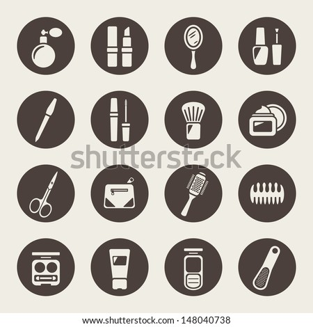 Makeup Icon Vector Beauty And Makeup Icons Stock