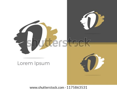 Beauty and Spa Massage center D letter logo design, letter D in Zen vector icon. Stok fotoğraf ©