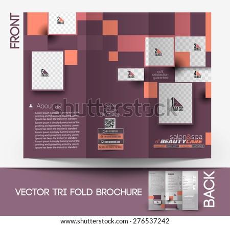 Spa Tri Fold Broschüre Vektor Vorlage - Kostenlose Vektor-Kunst ...