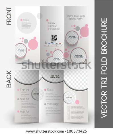 Beauty Care & Salon Tri-Fold Mock up & Brochure Design
