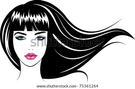 Beautiful Vector Girls And Logos From Stock Beauty Face Girl Vector