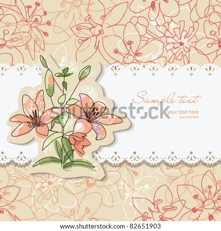 Beauty floral Greeting card with place for your text