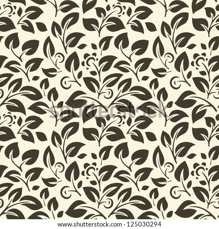 Beauty floral patterns on white background