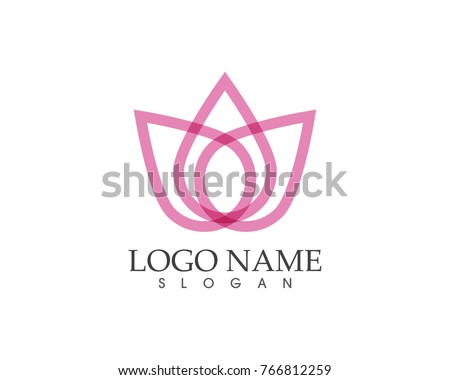 beauty flower icon logo design template