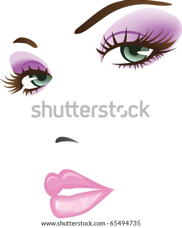 beauty girl face. design elements