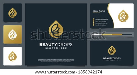 beauty gold water drop and
