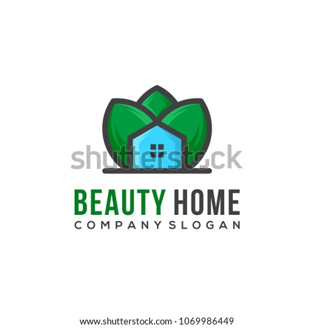 Stock Photo beauty home vectoor, nature house logo template vector illustration