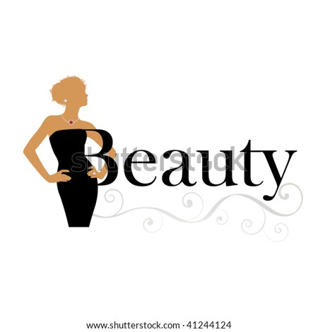 beauty icon - woman with word beauty