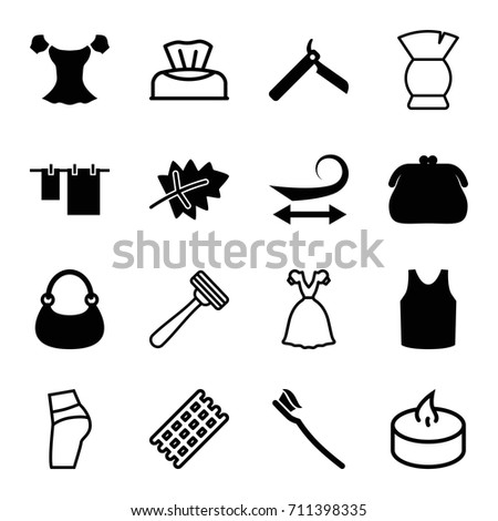 beauty icons set set of 16