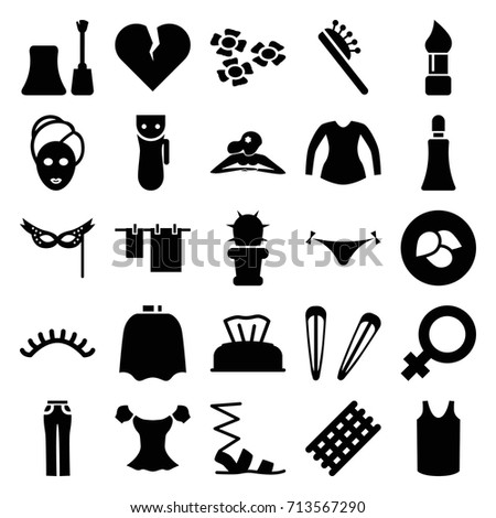 beauty icons set set of 25