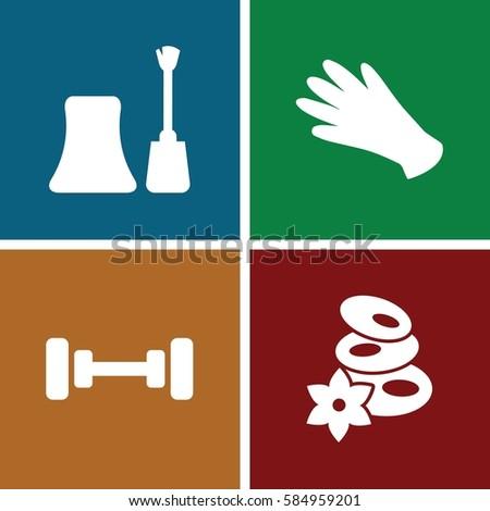 beauty icons set set of 4