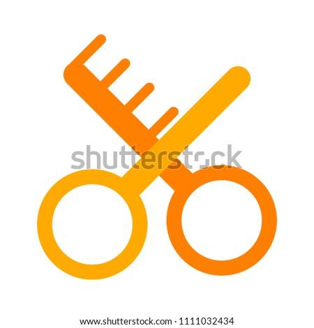 beauty illustration - barbershop or hairdresser beauty salon sign symbol