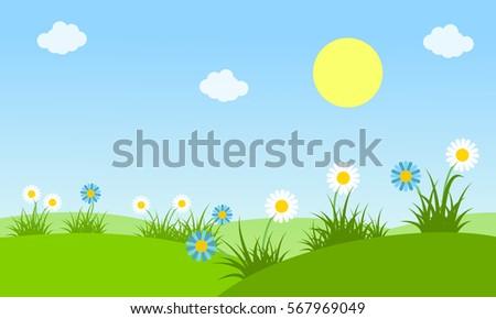 beauty landscape at spring