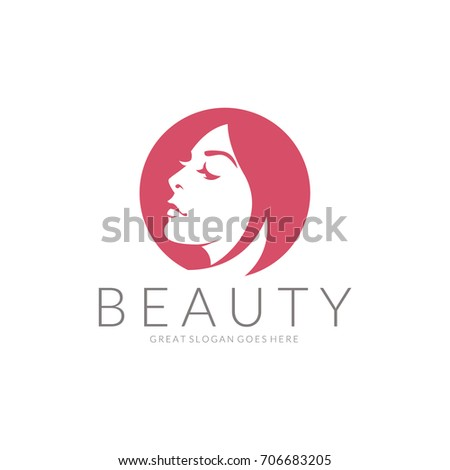 Beauty logo. An elegant logo for beauty, fashion and hairstyle related business. Easy to change color, size and text.