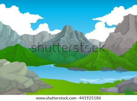 beauty mountain with lake