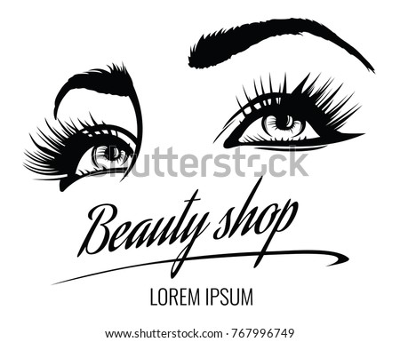 beauty salon vector poster with
