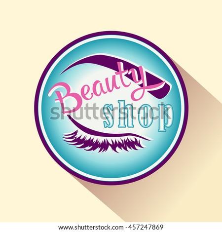 beauty shop icon or logo